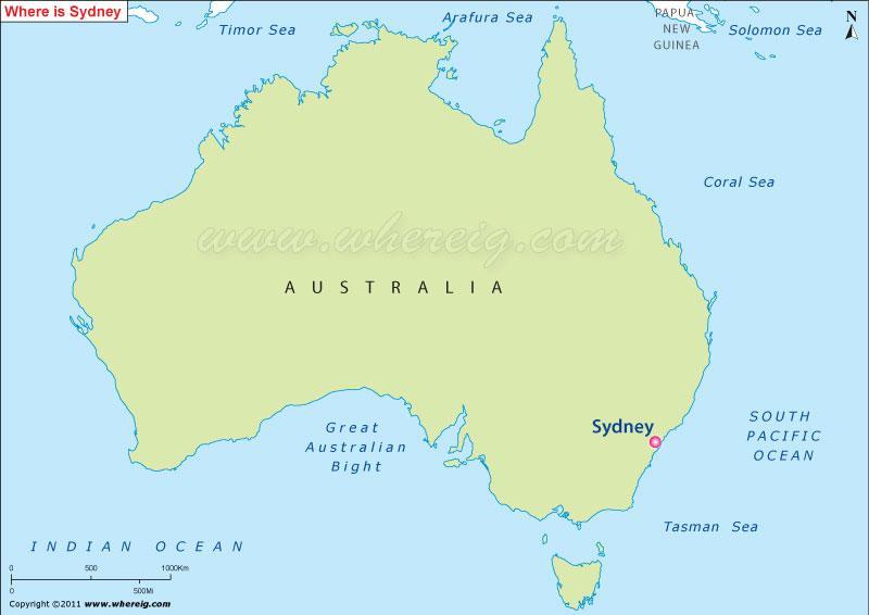 Map of sydney australia Australia map sydney Australia