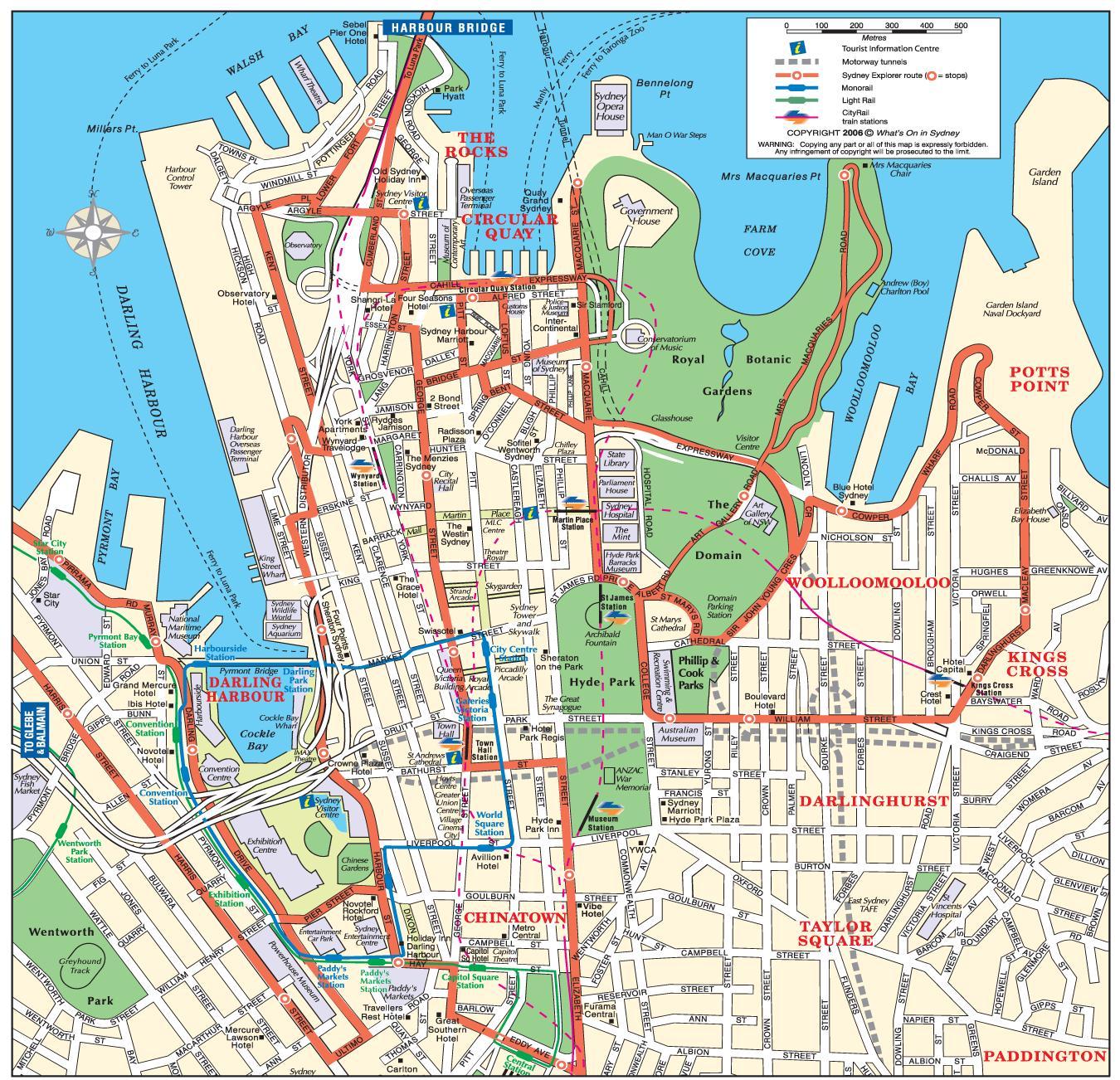 map of sydney sydney map city australia