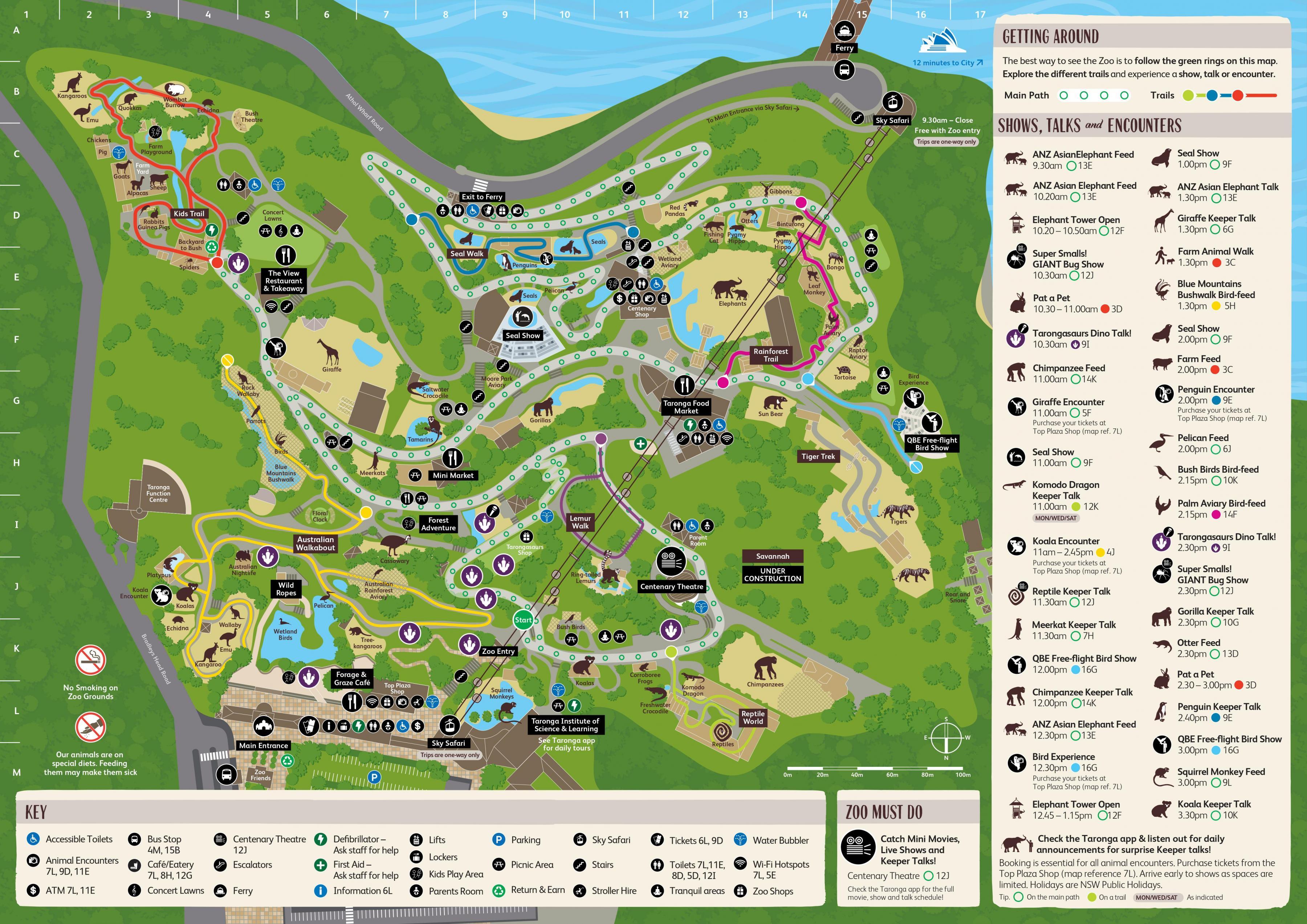 Taronga zoo map Sydney zoo map Australia