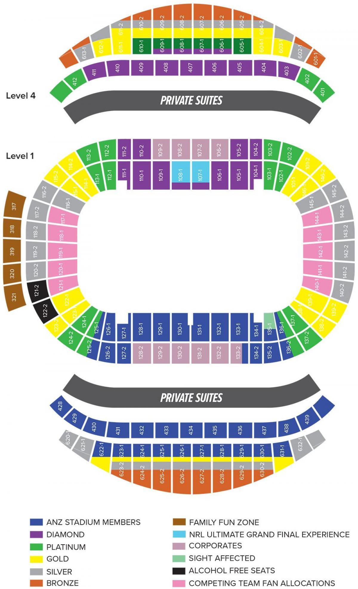 Anz Stadium Map Anz stadium map   Anz seating map (Australia) Anz Stadium Map