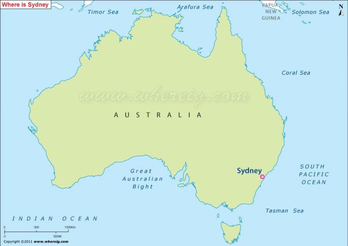 Map Sydney Australia.Map Of Sydney Australia Australia Map Sydney Australia